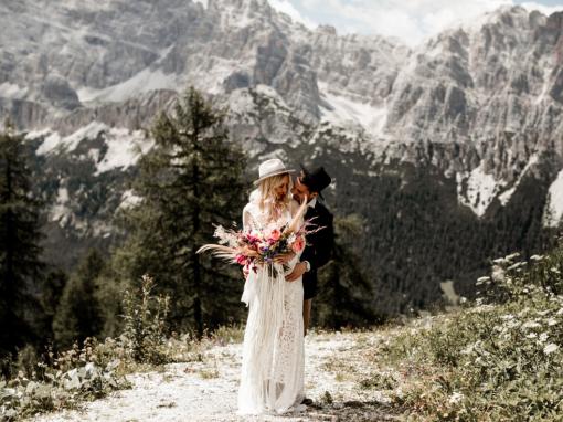 Matrimonio bohemian Dolomiti